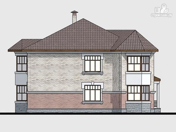 Фото 4: проект двухэтажный дом из газобетона с террасой и эркерами