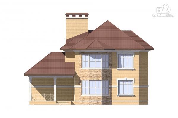 Фото 6: проект двухэтажный дом с террасой и гаражом