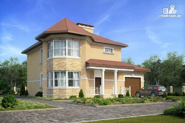 Фото: проект двухэтажный дом с террасой и гаражом