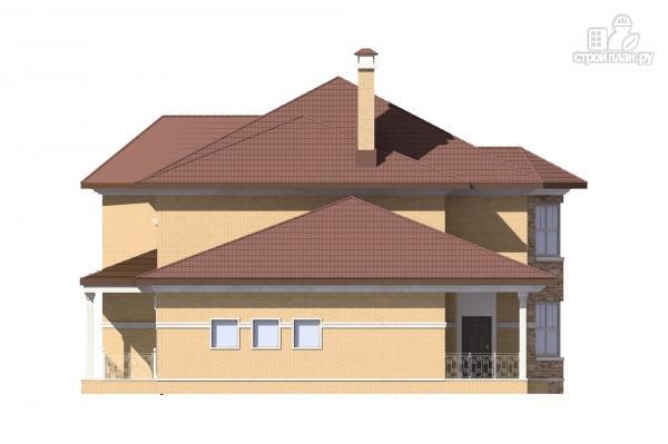 Фото 5: проект двухэтажный дом с террасой и гаражом