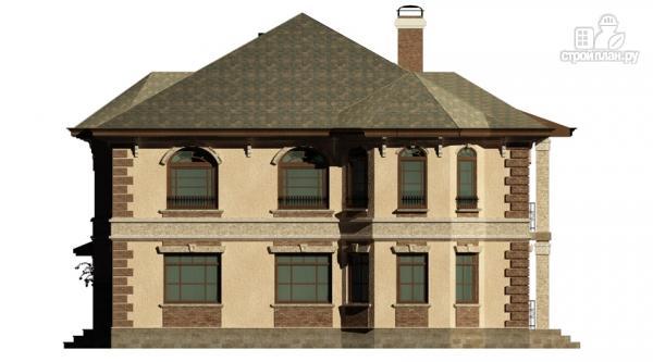 Фото 5: проект двухэтажный дом с балконом, террасой и котельной