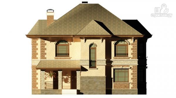 Фото 7: проект двухэтажный дом с балконом, террасой и котельной