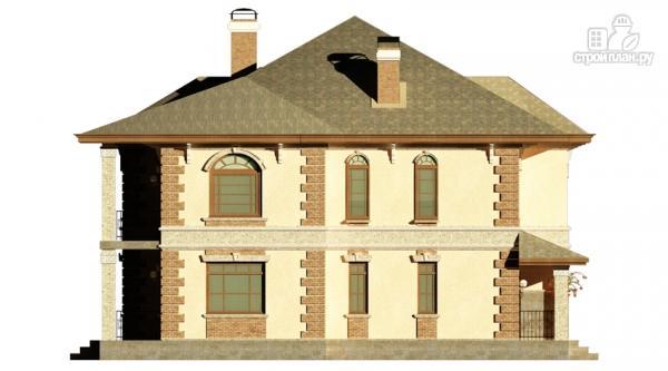 Фото 6: проект двухэтажный дом с балконом, террасой и котельной