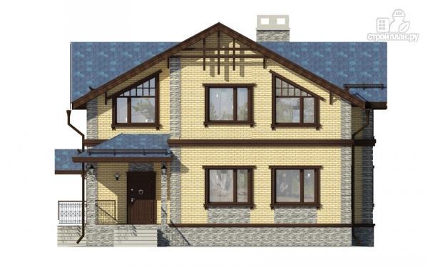 Фото 7: проект дом с террасой и мансардным этажом