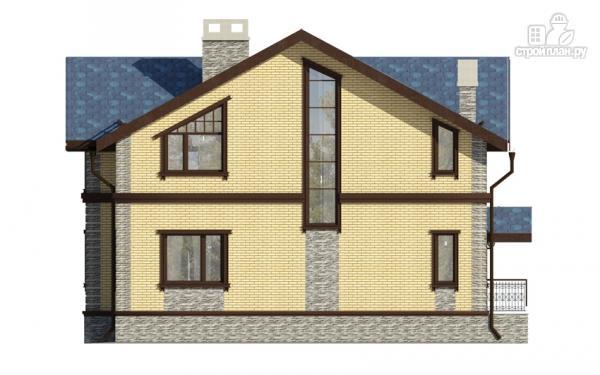 Фото 4: проект дом с террасой и мансардным этажом
