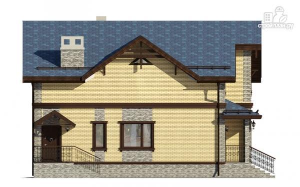 Фото 5: проект дом с террасой и мансардным этажом
