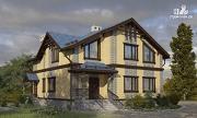Фото: дом с террасой и мансардным этажом