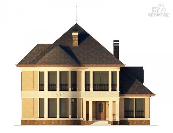 Фото 7: проект двухэтажный дом с террасой и эркерами