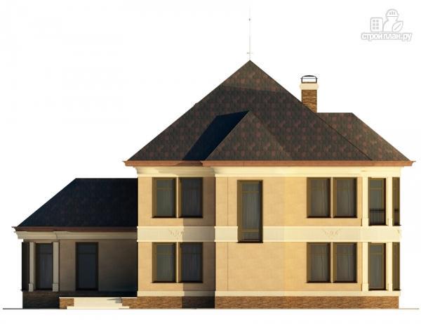 Фото 6: проект двухэтажный дом с террасой и эркерами