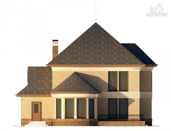 Фото 4: проект двухэтажный дом с террасой и эркерами