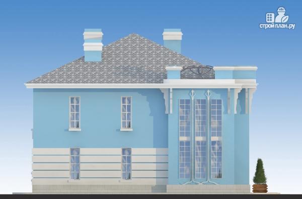 Фото 5: проект загородная резиденция с балконом, двухсветной гостиной и парной