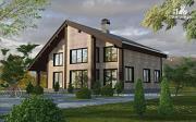 Проект дом на семь спален с террасой