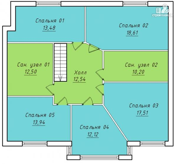 Фото 3: проект дом на семь спален с террасой