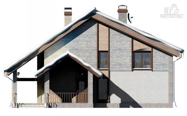 Фото 5: проект полутораэтажный дом с террасой