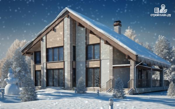 Фото 6: проект полутораэтажный дом с террасой