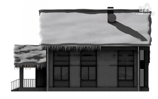 Фото 4: проект полутораэтажный дом с террасой