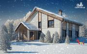 Проект полутораэтажный дом с террасой