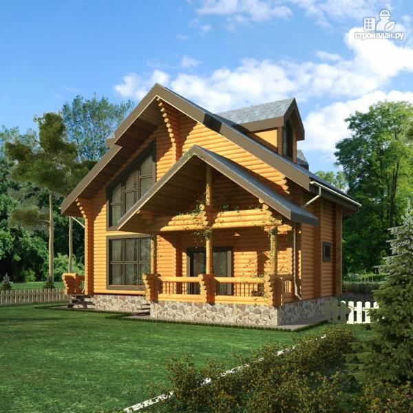 Фото 8: проект деревянный дом с террасами и вторым светом