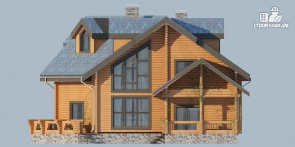 Фото 7: проект деревянный дом с террасами и вторым светом