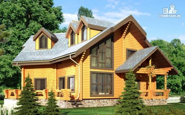 Фото: проект деревянный дом с террасами и вторым светом