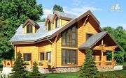 Фото: деревянный дом с террасами и вторым светом