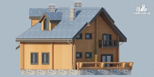 Фото 6: проект деревянный дом с террасами и вторым светом