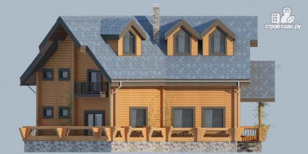 Фото 4: проект деревянный дом с террасами и вторым светом