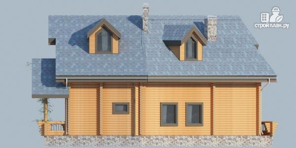 Фото 5: проект деревянный дом с террасами и вторым светом