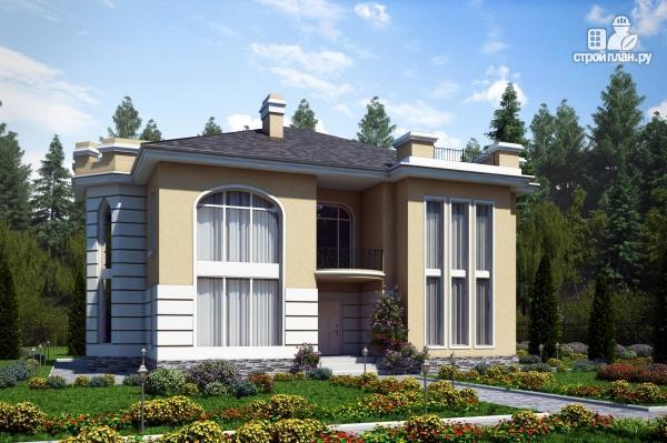 Фото: проект дом из газобетона со вторым светом в гостинной
