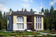 Проект дом из газобетона со вторым светом в гостинной