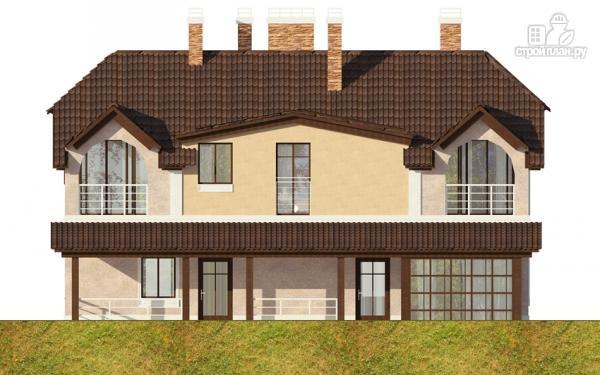 Фото 7: проект дом из газобетона с балконом, террасой и зимним садом