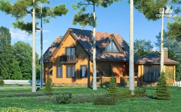 Фото 8: проект дом с большой террасой и столовой-верандой