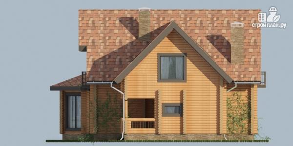 Фото 10: проект дом с большой террасой и столовой-верандой