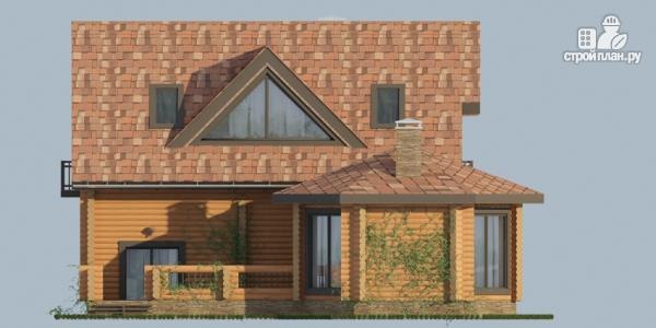 Фото 6: проект дом с большой террасой и столовой-верандой