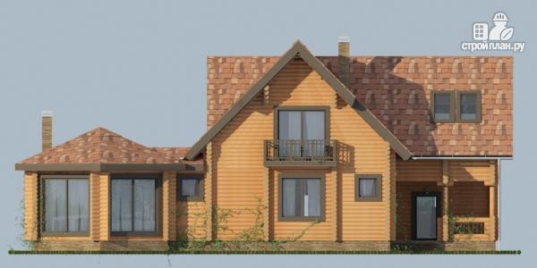 Фото 5: проект дом с большой террасой и столовой-верандой