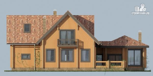 Фото 7: проект дом с большой террасой и столовой-верандой