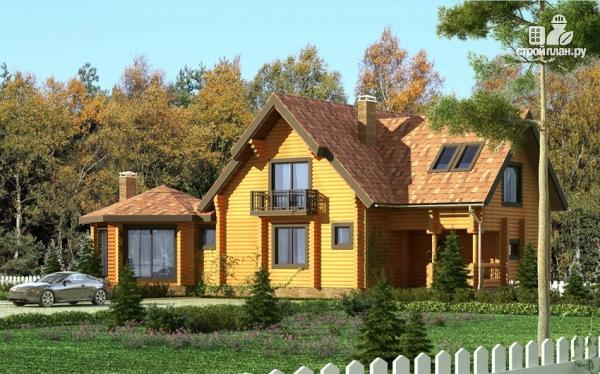 Фото 9: проект дом с большой террасой и столовой-верандой
