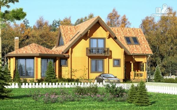 Фото: проект дом с большой террасой и столовой-верандой