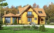 Фото: дом с большой террасой и столовой-верандой
