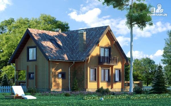 Фото 4: проект дом с большой террасой и столовой-верандой