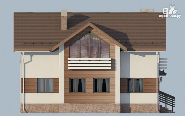 Фото 9: проект дом в полтора этажа с камином