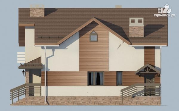 Фото 5: проект дом в полтора этажа с камином