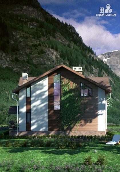 Фото 8: проект дом в полтора этажа с камином