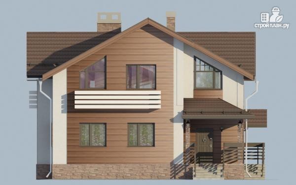 Фото 4: проект дом в полтора этажа с камином
