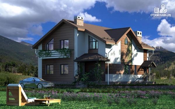 Фото 7: проект дом в полтора этажа с камином