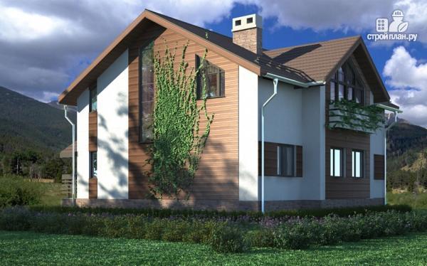 Фото: проект дом в полтора этажа с камином