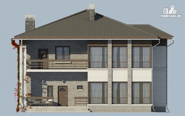 Фото 8: проект двухэтажный дом из газобетона с балконом и террасой