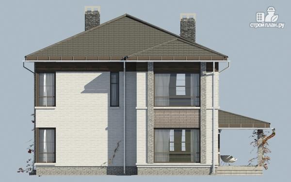 Фото 4: проект двухэтажный дом из газобетона с балконом и террасой