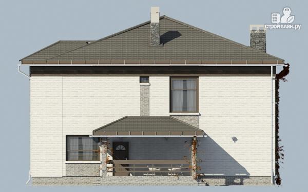 Фото 5: проект двухэтажный дом из газобетона с балконом и террасой