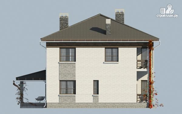 Фото 7: проект двухэтажный дом из газобетона с балконом и террасой